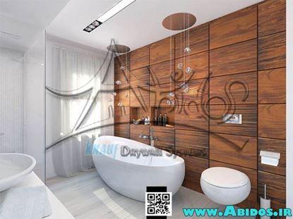 تصویر دکوراسیون حمام چوبی